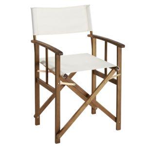 carrefour fauteuil metteur en scne bois blanc - Fauteuil Metteur En Scene
